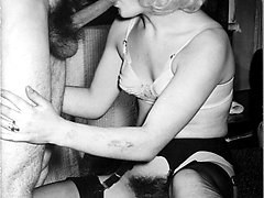 It's sex in nylons and garters for the kinky 1960s crew!