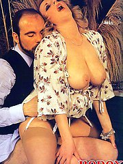 Busty seventies lady fucked