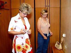 Naked ladies having fun in the sauna gal