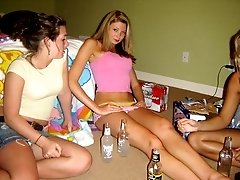 Nasty bimbos showing their erotic panties upskirt