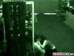 Caught on CCTV giving a quick sloppy blowjob