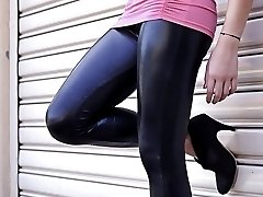 Girls in Latex Leggings