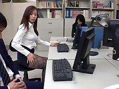 Eksotiske Japansk modell Remi Sasaki, Ren Ayase, Miyuki Ojima, Hikaru Shiina i Hotteste sekretær, par JAV klippet