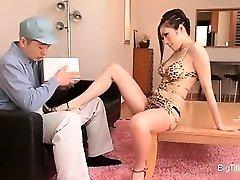 Smoking steaming Asian housewife seducing part3