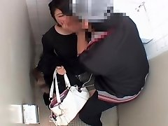 Long vagina fucked rock-hard by japanese dick in public wc