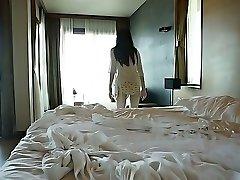 Atractivo, Asiático, polluelo Yumi Sugimoto pasa la mañana en la piscina