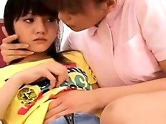 Subtitulado en Japonés lesbiana enfermera con el paciente despertó
