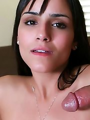Ultra-kinky first-timer Camilla Bella fills her mouth with a boner and later got her pussy fucked uncontrollably