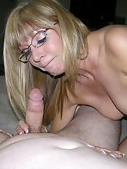 Amateur Grannie Gives Wet And Gloppy Blowjob
