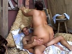 Plus-size Asian Ginger takes Cock
