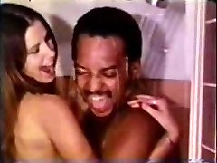 Vintage Multiracial Couple Shower Sex