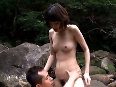 Mikoto Tsukawa Asian touches cock with feet OutdoorJp.com