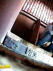 Two chicks get filmed weeing in spycammed toilet