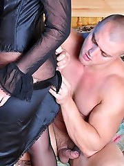 Dazzling escort girl getting boinked through her seamed crotchless pantyhose