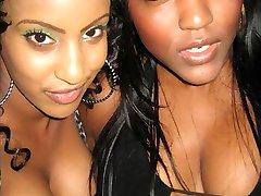 Kinky black girlfriends show sexy bodies