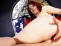 Sexy Wendy toys her ass & strokes