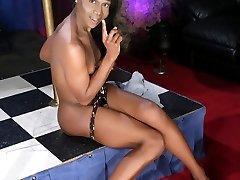 Black cutie Sanaa strips & dances