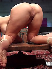 Chanel Preston spots Charie Deville dressed as a hot cheerleader at an underground Halloween party and instantly owns her. Charie is seduced with spanking, finger banging, pussy licking, bondage, dick on a stick, flogging, caning, and pussy and anal strap-on fucking!
