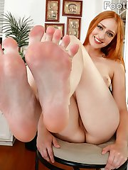 Rococo loves having her feet sucked. Her man is more than willing to put her feet all over his body. She give him the most epic footjob then he fucks her tight pussy hard and deep. He blasts his load all over her pretty feet, and can't wait to go again.