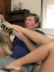 Lana Croft and Nautica Thorn engage in kinky foot pleasure in this exciting threesome session