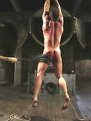 Derek Pain desires torment; he lives for it. Christian Wilde is a master at supplying those who are willing with insane amounts of pain. Mr. Wilde wraps Derek Pain and suspends him in the air. The bondage makes Derek's cock rock hard while Mr. Wilde's beatings bring him into true euphoria. Mr. Wilde makes Derek suck his cock, before covering his chest and dick with clover clamps. Mr. Wilde  suspends, and flogs Derek ruthlessly in order to see how much punishment Derek Pain can really withstand. Derek takes the flogging, and the clamps, but Mr. Wilde's massive cock proves to be too much for him. Mr. Wilde stretches Derek's tight hole while Derek begs for the flogger instead. Mr. Wilde does not take orders from his fuck slave, and instead covers Derek in hot cum.