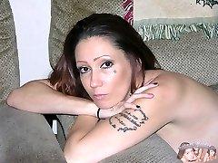 Amateur Tatted Biker Chick Modeling Nude - Sinn Model
