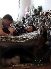 Oral fun with a big-titted sleeping mom