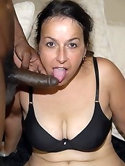 This mischievous mama loves the taste of black shaft