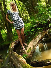 Danielka loves to go out to the stream behind her house just as the sun is going down and sit by the water. That�s not all Danielka likes to do though, she just can�t keep her fingers off her tight body!