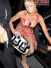 Up skirt of Paris Hilton
