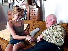 Eighty year old man fucking