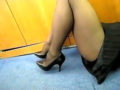 Tights Showcase in the Office