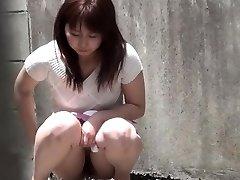 Odd chinese urinating street