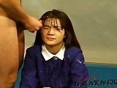 Bukkake Highschool Lesson 13 Four/Four Japanese uncensored blowjob