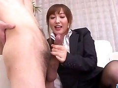 Mami Asakura office adventure with her manager