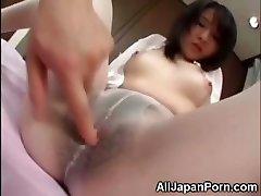 Japanese in Milky Stocking!