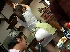 Mature drilling threesome with Mirei Kayama in a mini skirt