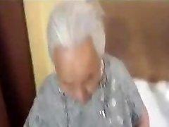 Chubby korian grandma being plumbed