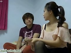 Korean Goddess Likes Slave Tonguing Her Feet