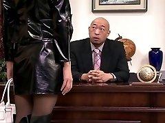 censored Riina Fujimoto office threesome