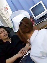 Asian nurse jerks boner