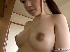 Gorgeous housewife Iroha Sagara gets hard fucking