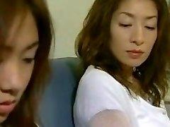 Two Asian Lesbians Seduce a Straight Gal