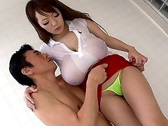 Crazy Japanese chick Hitomi Tanaka in Most Excellent JAV censored Bathroom, Large Tits movie