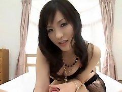 Exotic Japanese model Nao Ayukawa in Horny Doggy Style, Stockings JAV clip