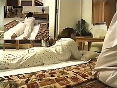 Delightsome Jap enjoys in spy webcam erotic massage video