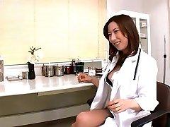 Doctor sounding peehole