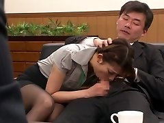 Nao Yoshizaki in Sex Thrall Office Lady part 1.Two