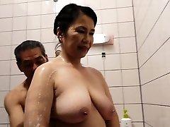 Unshaved Pussy Japanese Granny Michiko Okawa