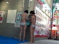 A scene of Kokomi restroom at swimming pool